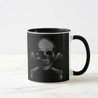 Hacker Skull and Crossbones Mug