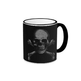 Hacker Skull and Crossbones Ringer Coffee Mug