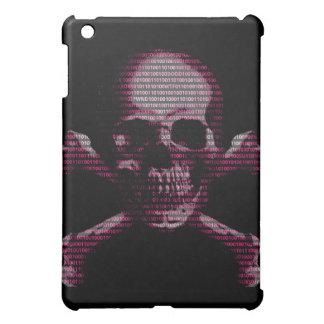 Hacker Skull and Crossbones Pink iPad Mini Cases