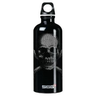 Hacker Skull and Crossbones Water Bottle