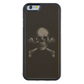 Hacker Skull and Crossbones Carved® Maple iPhone 6 Bumper
