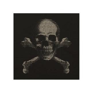 Hacker Skull and Crossbones Wood Prints
