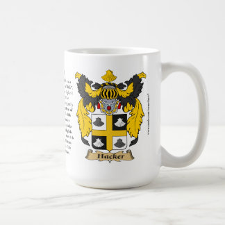 Hacker, the Origin, the Meaning and the Crest Coffee Mug