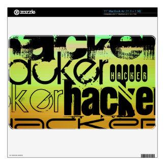 Hacker; Vibrant Green, Orange, & Yellow Skin For The MacBook