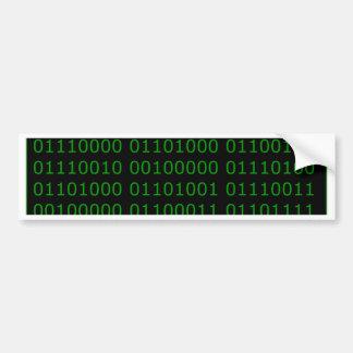 Hackeresque Car Bumper Sticker