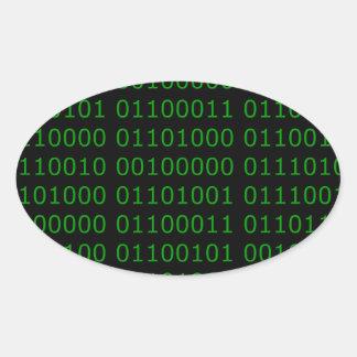 Hackeresque Oval Sticker