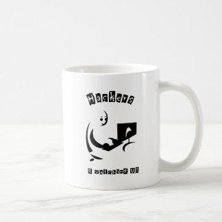 HACKERS R watching U! Classic White Coffee Mug