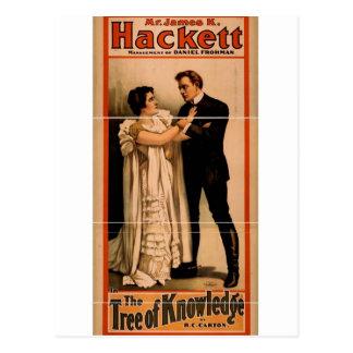 """Hackett, """"el árbol teatro retro del conocimiento"""" postales"""