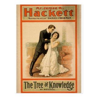 """Hackett, """"el árbol teatro retro del conocimiento"""" postal"""