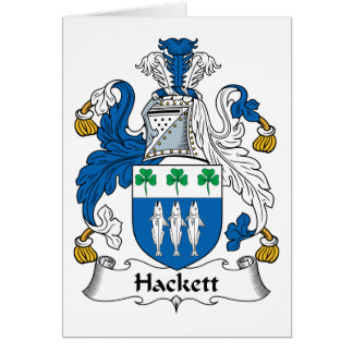 Hackett Family Crest Greeting Card
