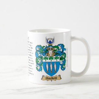 Hackett, the Origin, the Meaning and the Crest Coffee Mug