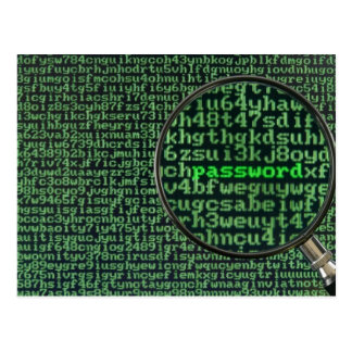 Hacking for password postcard
