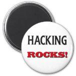 Hacking Rocks Fridge Magnets