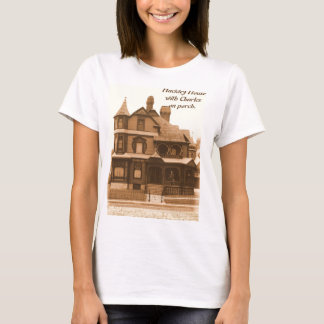 Hackley House,Charles on porch:Women's T-Shirt