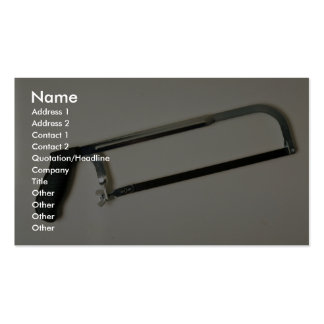 Hacksaw tool to cut metals Double-Sided standard business cards (Pack of 100)