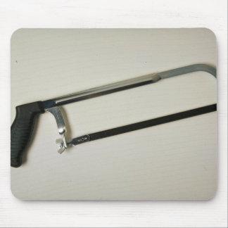 Hacksaw tool to cut metals mouse pad