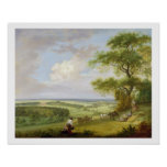 Hackwood Park, Hampshire (oil on canvas) Poster