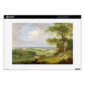 "Hackwood Park, Hampshire (oil on canvas) 15"" Laptop Decals"