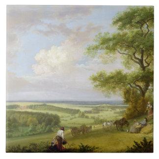 Hackwood Park, Hampshire (oil on canvas) Tile
