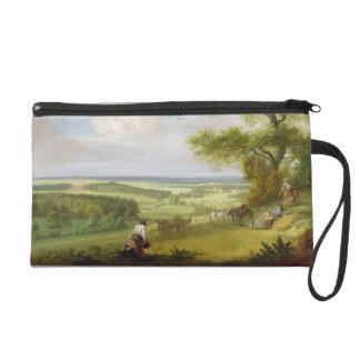 Hackwood Park, Hampshire (oil on canvas) Wristlet Purse