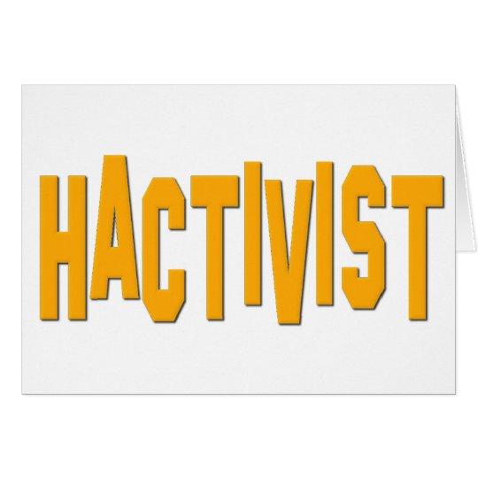 Hactivist Hacker Activist Card