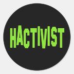 Hactivist Hacker Activist Classic Round Sticker