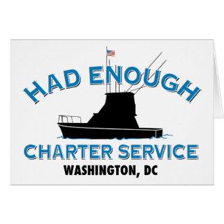 Had Enough Charter Service Card
