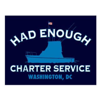 Had Enough Charter Service Postcard