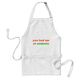 had me at namaste adult apron