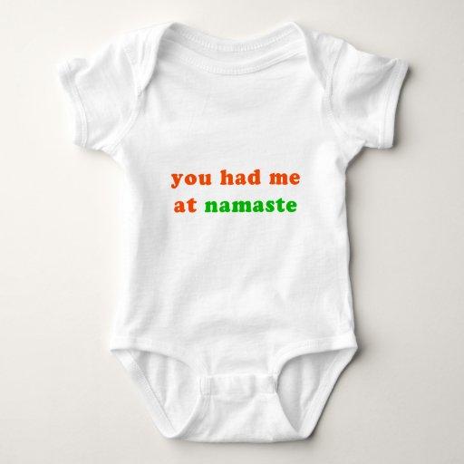 had me at namaste tshirt