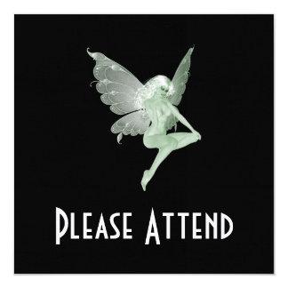 Hada 1A del verde de la firma del arte del ajenjo Invitaciones Personales