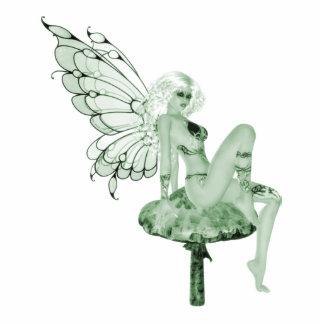 Hada 2B del verde de la firma del arte del ajenjo Esculturas Fotográficas