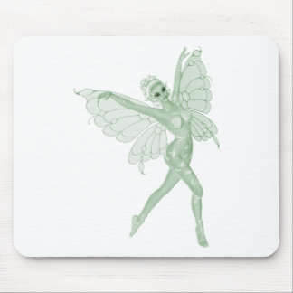 Hada 3B del verde de la firma del arte del ajenjo Alfombrilla De Raton