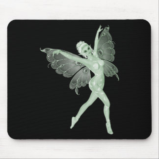 Hada 3B del verde de la firma del arte del ajenjo Mousepad