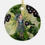 Hada actual negra ornaments para arbol de navidad