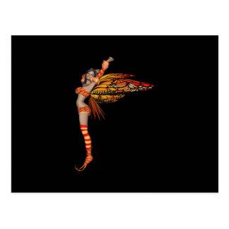 Hada anaranjada 2 de la mariposa del duendecillo postal