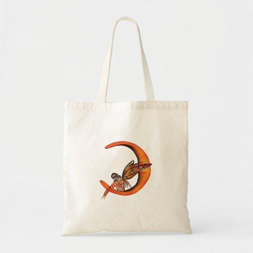 Hada anaranjada 5 de la mariposa del duendecillo d bolsas