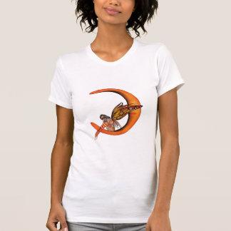 Hada anaranjada 5 de la mariposa del duendecillo d camisetas