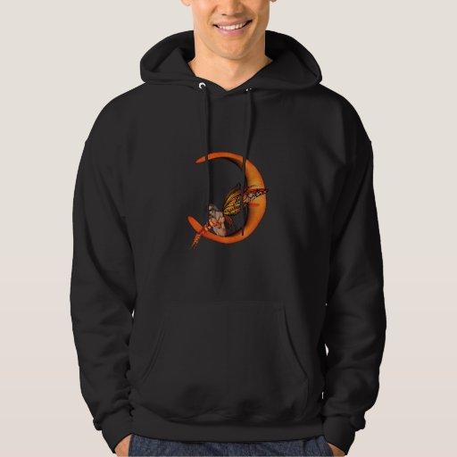 Hada anaranjada 5 de la mariposa del duendecillo suéter con capucha