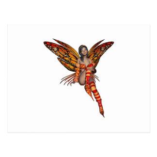 Hada anaranjada 7 de la mariposa del duendecillo postal