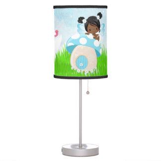 Hada azul adorable lámpara de escritorio
