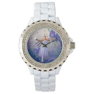 Hada azul de la flor relojes de mano