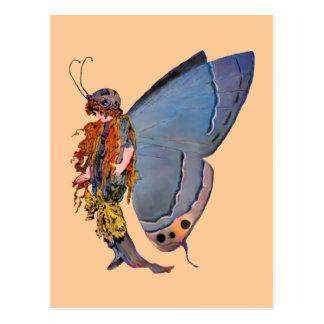 Hada azul del duendecillo tarjetas postales