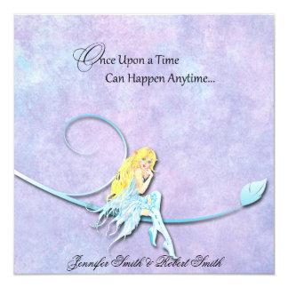 Hada azul en el boda púrpura de la acuarela anuncio