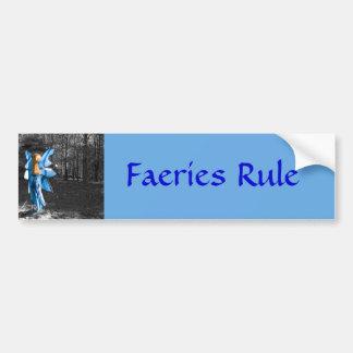 Hada azul regla de los Faeries Pegatina De Parachoque