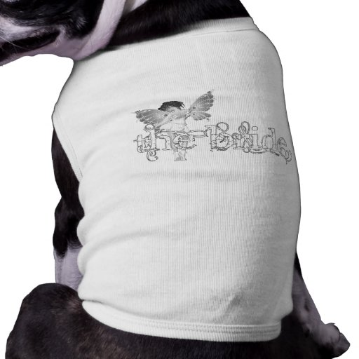 Hada blanca B&W - la novia del vestido Camiseta De Perro