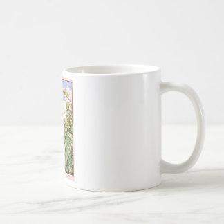 Hada blanca de la enredadera taza de café