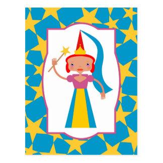 Hada bonita con la vara mágica tarjetas postales