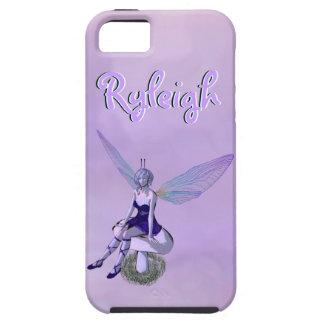 Hada coa alas multicolora en nombre de encargo iPhone 5 fundas