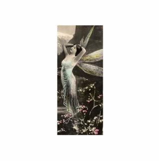Hada coa alas oro/Faerie Fotoescultura Vertical